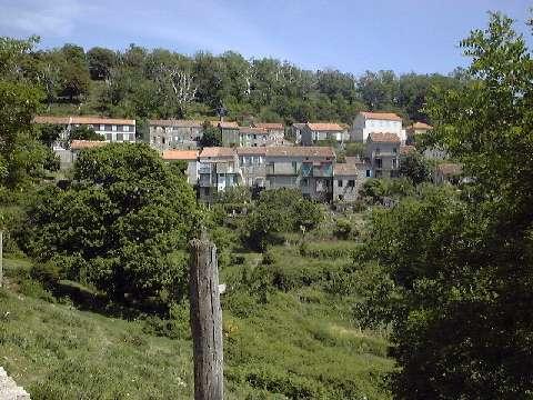 Le village vu de la route d'Ajaccio, photo de Marc Benedetti sur http://www.corse-sud.net