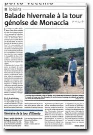 randonnée à la tour d'Olmeta de Monaccia d'Aullène