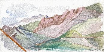 La ligne de crête, en regardant vers le Col de la Tana