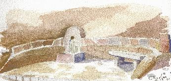 Fontaine à Aullène, route d'Ajaccio